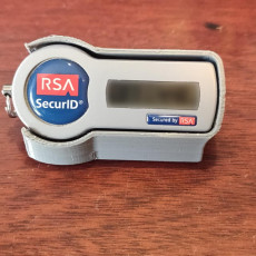 RSA SecurID angled holder