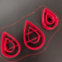 Double Teardrop polymer clay cutters image