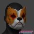 Bulldog Mask, Halloween Mask, Cosplay Mask, Helmet STL 3D Print File image