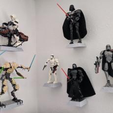 Lego Star Wars Figure Wall Mount Remix Double Platform