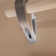 Curtain rail hanger for 32mm rod