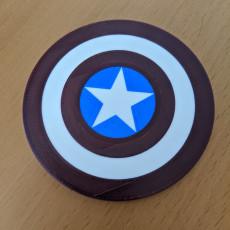 Captain America Shield Logo Coaster