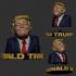 Funny Donald Trump Sculpture STL 3D Print Model image