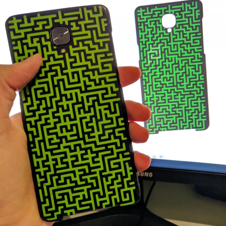 OnePlus 3/3T case with maze pattern