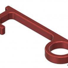 GB 3D - Hands Free - Door Pull Opener - Button Press