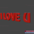 I Love You Text STL Print File Mother Father Day Valentine Gift image