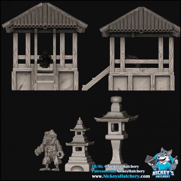 Asian Gazebo & Lamps, Kammi Terrain Pieces's Cover