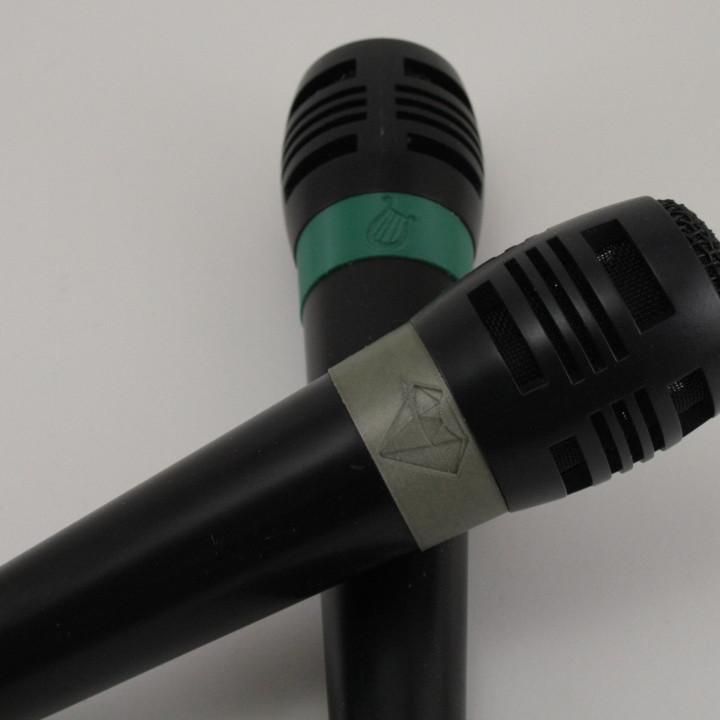 Pony (MLP) themed rings for Singstar microphones