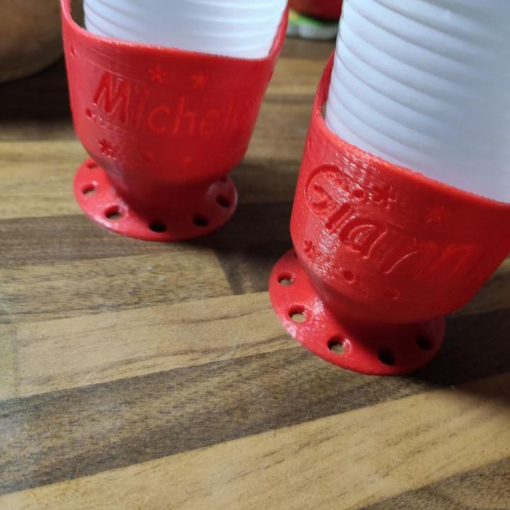 Customizable cup holders with your name or nikname Eco Calice porta bicchiere monouso personalizzato per riutilizzo