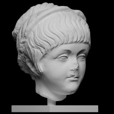 Marble Portrait Head of a Young Girl