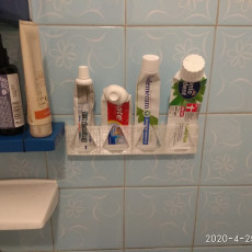 tooth paste holder