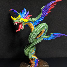 Picture of print of Quetzalcoatl the Snake God (AMAZONS! Kickstarter)