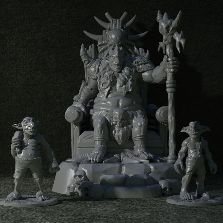 Goblin King in Throne's Cover
