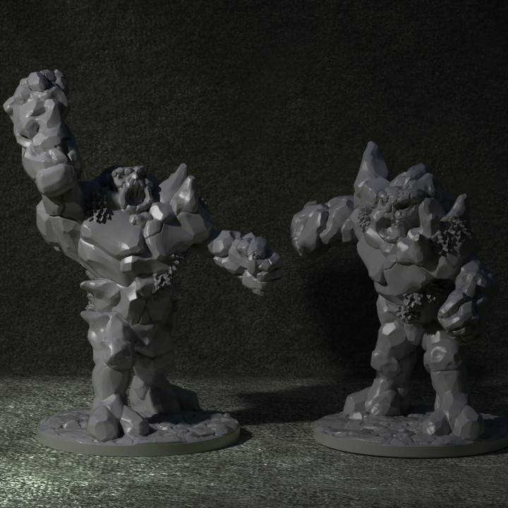 With Base: Stone Golem 2's Cover