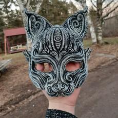 Kitsune inspired half mask
