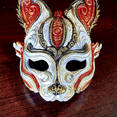 Picture of print of Kitsune inspired half mask