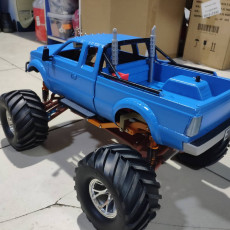 Picture of print of 1/10 Typical Pickup Body for MyRCCar MTC Chassis with Rigid Axles or Independent Suspension System