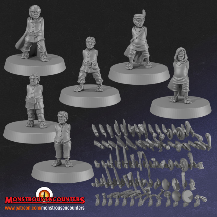Halflings Set 2 w/Modular Arms
