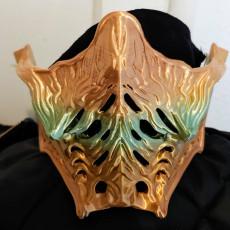 Picture of print of Ninja mask, MK - inspired