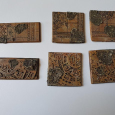 Picture of print of Aztec Wargaming Bases