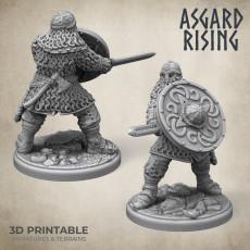 Midgard Viking Shieldman #2 PRESUPPORTED