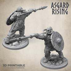 Midgard Viking Shieldman #3 PRESUPPORTED