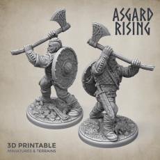 Midgard Viking Shieldman #4 PRESUPPORTED
