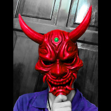 Picture of print of Hannya Mask -Satan Mask - Demon Mask for cosplay 3D print model