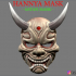Hannya Mask -Satan Mask - Demon Mask for cosplay 3D print model image