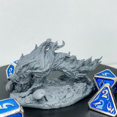 Picture of print of Wraith Wolf #1 PRESUPPORTED
