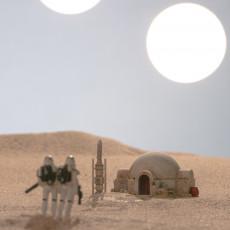 Picture of print of Luke Skywalker's Home, Tatooine - Star Wars