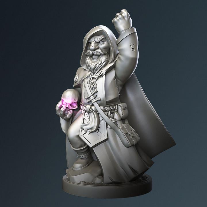 Gnome warlock, Grimbrann.