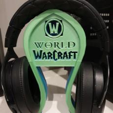 World of Warcraft headphone stand
