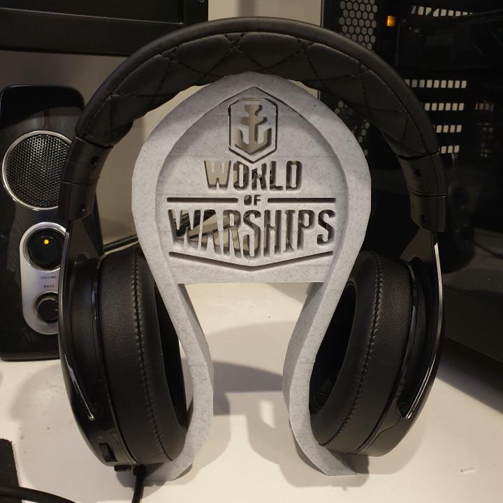 World of Warships headphones stand
