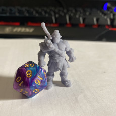Picture of print of Nadug- Half Orc Warrior- 32mm - DnD -