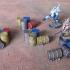 Wargame 28/32mm barrels pile / cluster image
