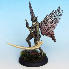 Picture of print of Moth lady