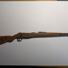 Picture of print of Mauser Modell 98 (Kar98k) - scale 1/4