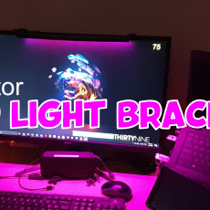 Monitor LED Light Bracket