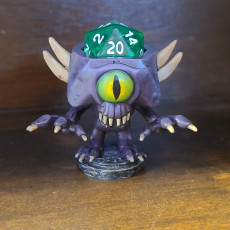 Picture of print of Nothic Dice Head