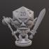 Half Orc Paladin Dice Head image