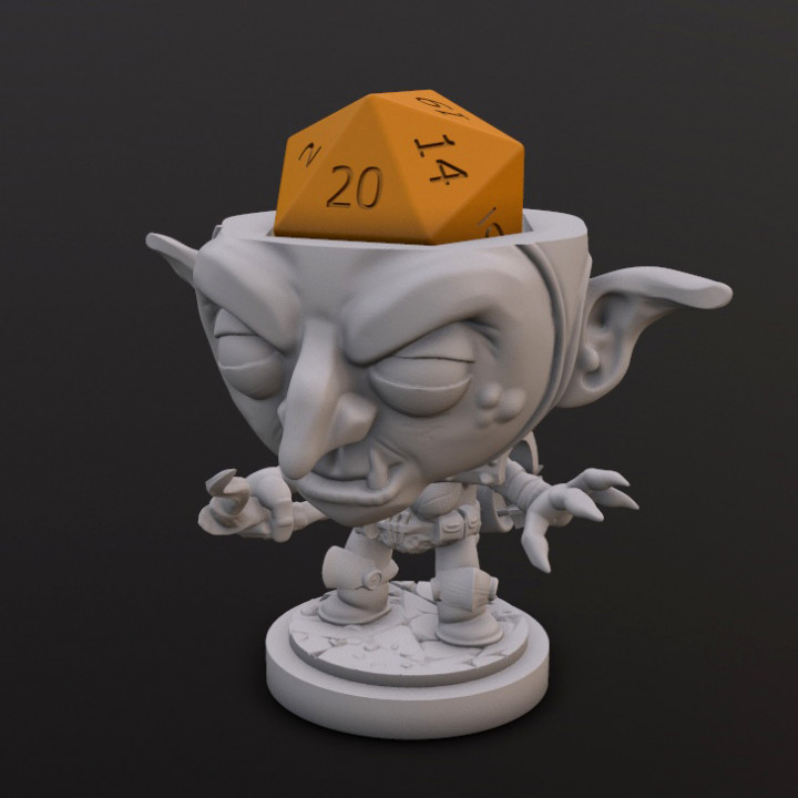 Goblin Archer Dice Head's Cover