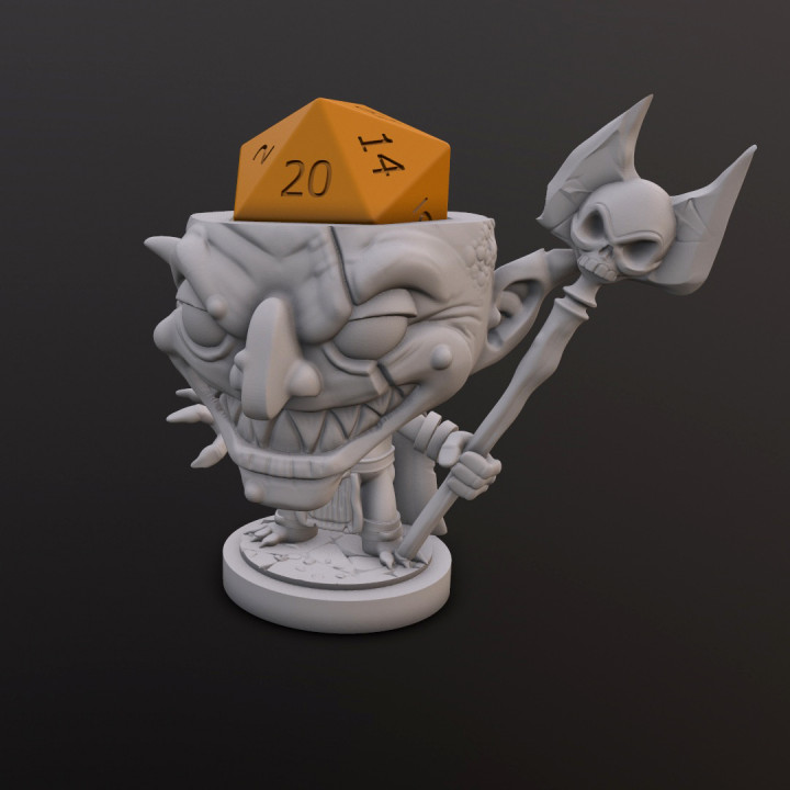 Goblin Witchdoctor Dice Head's Cover