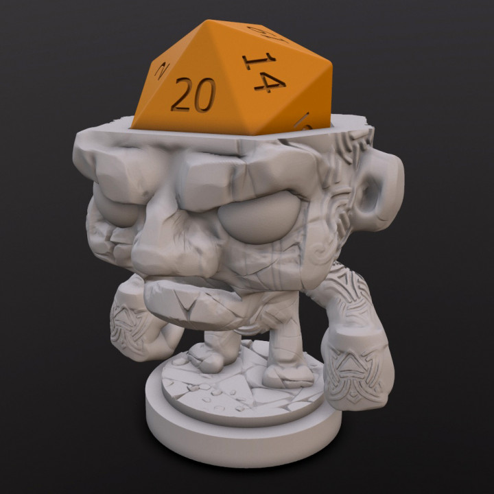 Stone Golem Dice Head's Cover