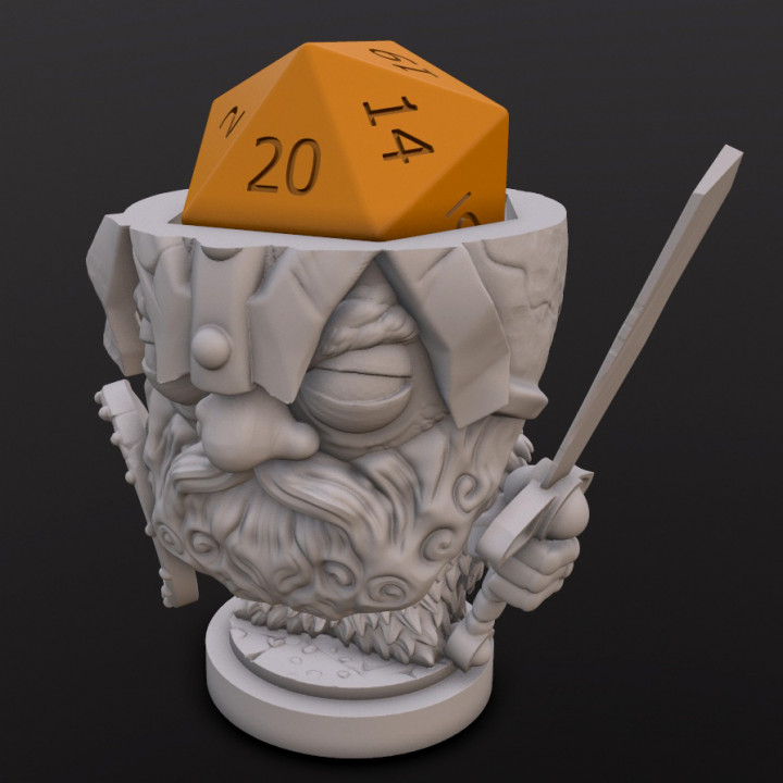 Dwarf Fighter (Denzil) Dice Head