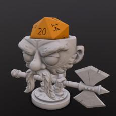Dwarf Fighter (Guladin) Dice Head