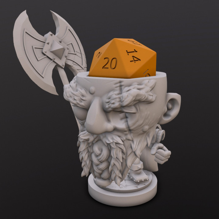 Dwarf Fighter (Magnus) Dice Head's Cover