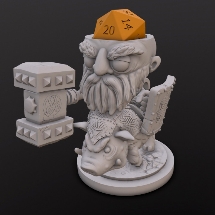 Dwarf Fighter (Ulrich Hogrider) Dice Head's Cover