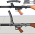 F1 Sub Machinegun - scale 1/4 image
