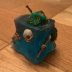 Picture of print of Gelatinous Cube Dice Head